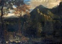 paysage classique animé de personnages by abraham genoels