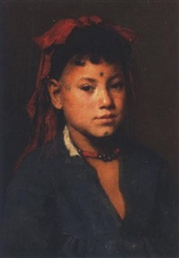 portrait of a tattooed lady by marie müller