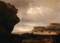 paysage de mer by raymond eugène goethals