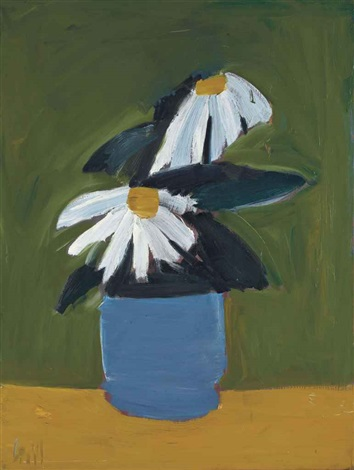 fleurs au pot bleu by nicolas de staël