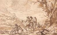 scène de chasse à courre by zacharias blyhooft