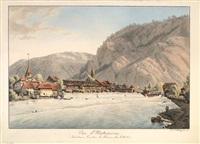 vue d'unterseen/à interlaken, canton de berne by franz niklaus könig