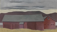 lake george barn (lake george barns) by georgia o'keeffe