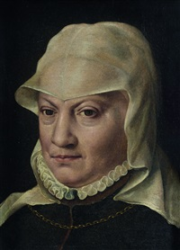 portrait de femme à la coiffe by willem key