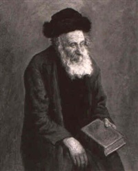 a seated rabbi by arthur markewitsch