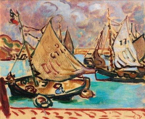 barques à port en bessin by louis valtat