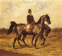 cavalier aux deux montures by gustav colsoulle