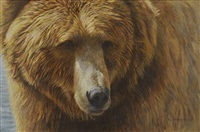 grizzly head portrait by robert mclellan bateman