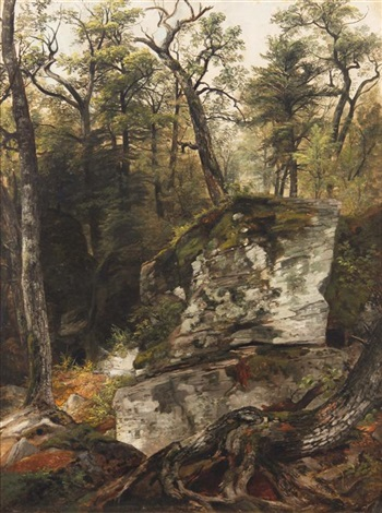 guard house catskill mountains by asher brown durand