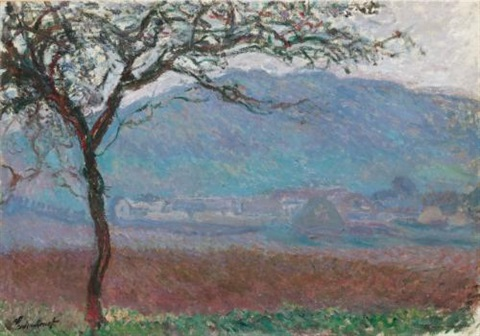 champ à giverny by claude monet