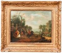 le départ de la chasse by flemish school (18)