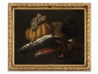 kitchen scene with fish by giuseppe recco