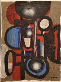 composition rouge, bleu et noir by ladislas pierre kijno