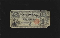 ten dollar bill with red treasury seal by nicholas alden brooks