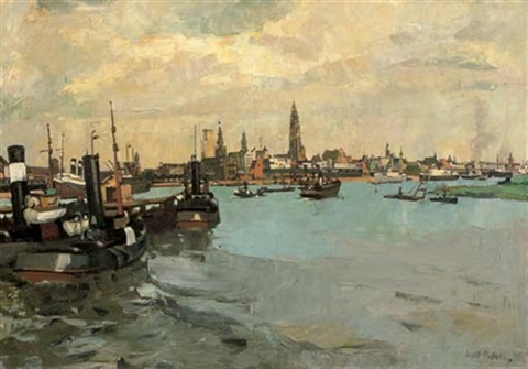 the harbour of antwerp by jozef peeters