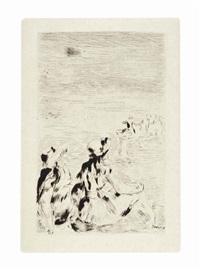 sur la plage, à berneval by pierre-auguste renoir