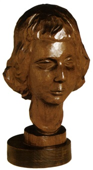head of a woman by israel isaac lipschitz