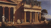 paysage grec, le retour d'ulysse by emmanuel coulange-lautrec