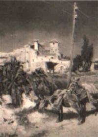 paisaje con asnos by felix alarcon