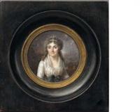portrait d'anne vanot, épouse de louis laisné (+ portrait de louis laisné; pair) by lié-louis périn-salbreux