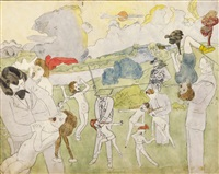 at angeline junction and strangled (double-sided) by henry darger