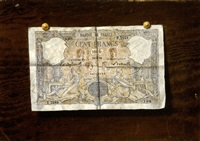 cent francs, billet en trompe l'oil by victor dubreuil
