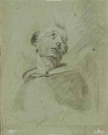 portrait dun moine tête dun vieil homme barbu rectoverso by giuseppe angeli
