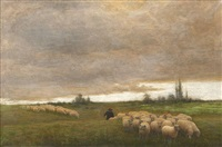 the drover with his flock, homeward bound by joseph malachy kavanagh