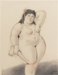 standing nude by fernando botero