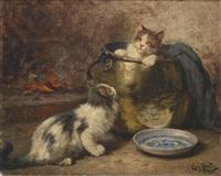 katzenfamilie by léon charles huber