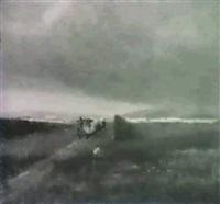 landschaft mit dampfzug by jules louis badel