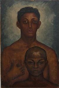 portrait d'un homme et d'un enfant, torses nus by jaime antonio colson