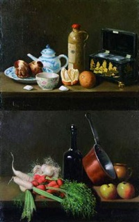 nature morte aux légumes by adolphe phalipon