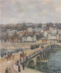 le pont de st. cloud by georges manzana-pissarro