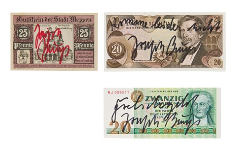 1 untitled 2 komme leider richt 3 falschgeld 3 works by joseph beuys
