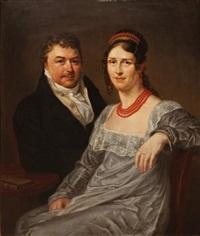 portrait d'un couple by françois joseph navez