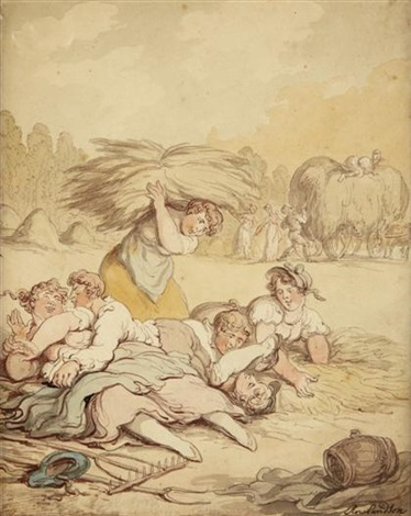 the haymakers by thomas rowlandson