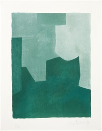 composition en vert by serge poliakoff