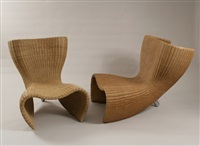 two wicker chairs by marc newson