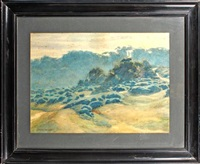 moorland landscape (+ 2 others; 3 works) by norman ault