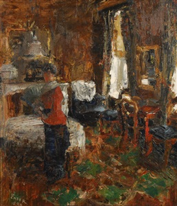 le salon bourgeois by james ensor
