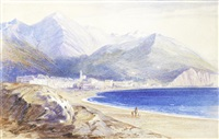 a view of menton by edward lear