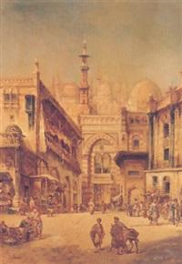 oriental courtyard scene by g. tomassi