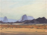 montagnes bleues dans le hoggar by camille leroy