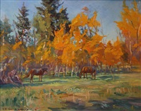 autumn colour by orestes (rick) nicholas de grandmaison