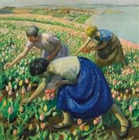 tulip pickers by harold harvey
