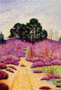 paysage néo-impressioniste by antoine de (comte) la rochefoucauld