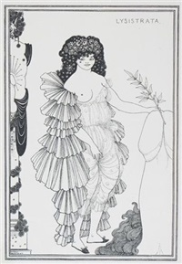 lysistrata (set of 8) by aubrey vincent beardsley