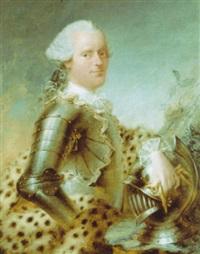 portrait d'un homme en armure by louis richard françois dupont