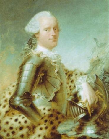 portrait dun homme en armure by louis richard françois dupont